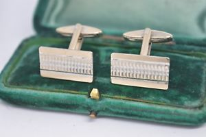 【送料無料】メンズアクセサリ― ビンテージスターリングシルバーアールデコデザインカフリンクスvintage sterling silver cufflinks with an art deco design b813