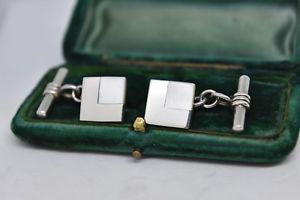 【送料無料】メンズアクセサリ― ビンテージスターリングシルバーアールデコパールデザインカフリンクスvintage sterling silver cufflinks with an art deco pearl design b870