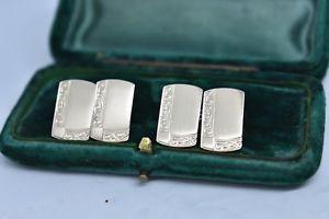 【送料無料】メンズアクセサリ― ビンテージスターリングシルバーアールデコデザインカフリンクスvintage sterling silver cufflinks with an art deco design b861
