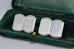 【送料無料】メンズアクセサリ― ビンテージスターリングシルバーアールデコデザインカフリンクスvintage sterling silver cufflinks with an art deco design g75