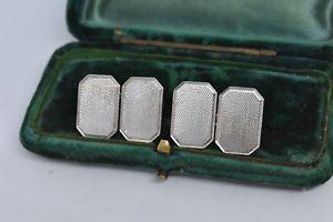 【送料無料】メンズアクセサリ― ビンテージスターリングシルバーアールデコデザインカフリンクスvintage sterling silver cufflinks with an art deco design g126
