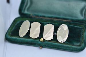 【送料無料】メンズアクセサリ― ビンテージスターリングシルバーアールデコデザインカフリンクスvintage sterling silver cufflinks with an art deco design b871