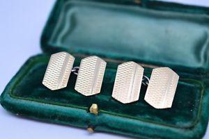 【送料無料】メンズアクセサリ― ビンテージアールデコスターリングシルバーゴールドプレートカフリンクスvintage art deco sterling silver cufflinks with a gold plate b116