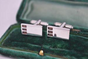【送料無料】メンズアクセサリ― ビンテージスターリングシルバーインサートカフリンクスvintage sterling silver cufflinks with a coloured inserts b749