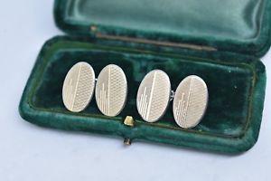 【送料無料】メンズアクセサリ― ビンテージアールデコデザインスターリングシルバーカフリンクスvintage sterling silver cufflinks with an art deco design b855