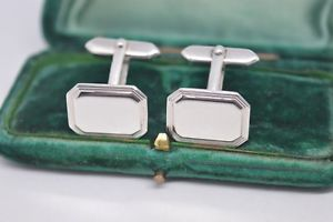【送料無料】メンズアクセサリ― ビンテージスターリングシルバーアールデコデザインカフリンクスvintage sterling silver cufflinks with an art deco design b839