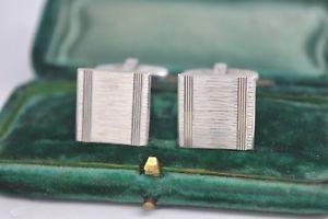 【送料無料】メンズアクセサリ― ビンテージアールデコデザインスターリングシルバーカフリンクスvintage sterling silver cufflinks with an art deco design b814