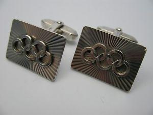【送料無料】メンズアクセサリ― オリンピアカフスボタンolympia rare very nice cufflinks made of 800 silver