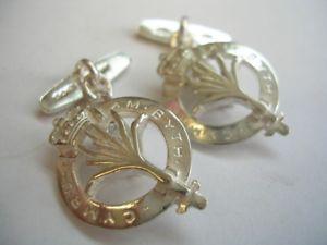 【送料無料】メンズアクセサリ― スターリングシルバーウェールズリークメンズカフリンクス 925 sterling silver welsh guards regiment leek design mens cufflinks