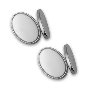 【送料無料】メンズアクセサリ― カフリンクスsterling silver doublesided oval cufflinks