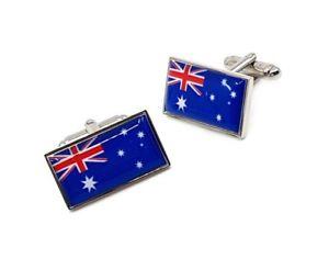 【送料無料】メンズアクセサリ― オーストラリアカフリンクスaustralian flag cufflinks
