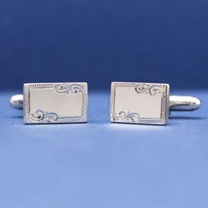 【送料無料】メンズアクセサリ― エスクァイアエッジカフリンクスesquire sterling silver engraved edge cufflinks