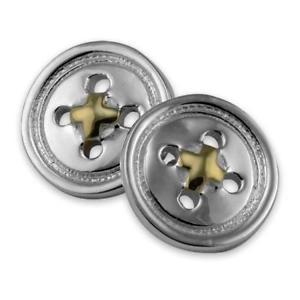 【送料無料】メンズアクセサリ― gold cufflinks sterling スターリングシルバーボタンカフリンクス925 silver button amp;