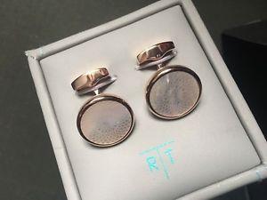 【送料無料】メンズアクセサリ― パールロトンドギヨシェカフスボタンブランドtateossian mother of pearl rotondo guilloche cufflinks brand
