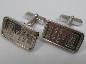 【送料無料】メンズアクセサリ― クレディスイス5グラム999カフスリンクスターリングcredit suisse 5 gramm 999 silver bars cuff links sterling silver