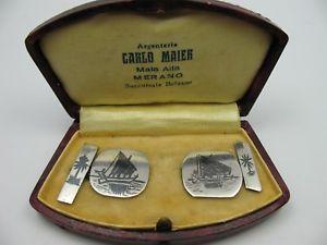 【送料無料】メンズアクセサリ― カーロマイエルmeranカフスリンクcarlo maier meran handmade cufflinks silver incl case