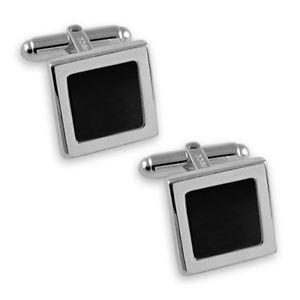 【送料無料】メンズアクセサリ― スターリングシマメノウカフスリンクsterling silver onyx square cufflinks
