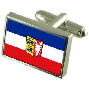 【送料無料】メンズアクセサリ― ボックスカフリンクスschleswigholstein state sterling silver flag cufflinks in engraved box