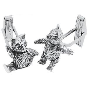 【送料無料】メンズアクセサリ― アリノーマンスターリングシルバーテディカフスボタン ari d norman sterling silver moving teddy cufflinks gift boxed great gift