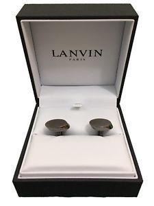 【送料無料】メンズアクセサリ― ランヴァンパリカフスリンクrrp160シルバーlanvin paris oval cufflinks silvergrey rrp 160 brand