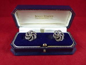 【送料無料】メンズアクセサリ― ビクトリアシルバープレートペーストストーンカフスボタンジェニーナッツvictorian silver plate amp; paste stone cufflinks c1860  jenny knott