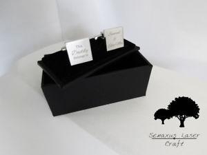 【送料無料】メンズアクセサリ― シルバーカフスボタンアンプパーソナライズボックスカフリンクengraved silver cufflinks amp; personalised gift box cuff links birthday scls7