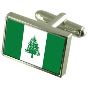 【送料無料】メンズアクセサリ― ノーフォークボックススターリングシルバーフラッグカフリンクスnorfolk island sterling silver flag cufflinks in engraved personalised box
