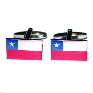 【送料無料】メンズアクセサリ― チリ×フラグカフスボタンchile flag cufflinks presented in a box x2bocf032