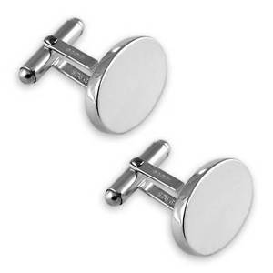 【送料無料】メンズアクセサリ― カフリンクスバーsterling silver heavyweight plain oval cufflinks tbar swivel fitting
