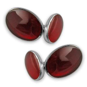 【送料無料】メンズアクセサリ― カフリンクスsterling silver cornelian doublesided cufflinks