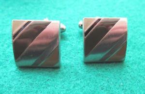 【送料無料】メンズアクセサリ― エナメルカフリンクスbrownochre enamel cufflinks