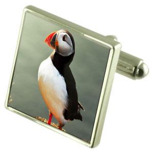 【送料無料 engraved】メンズアクセサリ― カフスボタンオプションボックスオンpuffin bird sterling silver cufflinks optional optional sterling engraved box, カラスチョウ:245926e1 --- number-directory.top