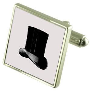 【送料無料】メンズアクセサリ― オプショントップハットスターリングカフスリンクtop hat sterling silver cufflinks optional engraved box