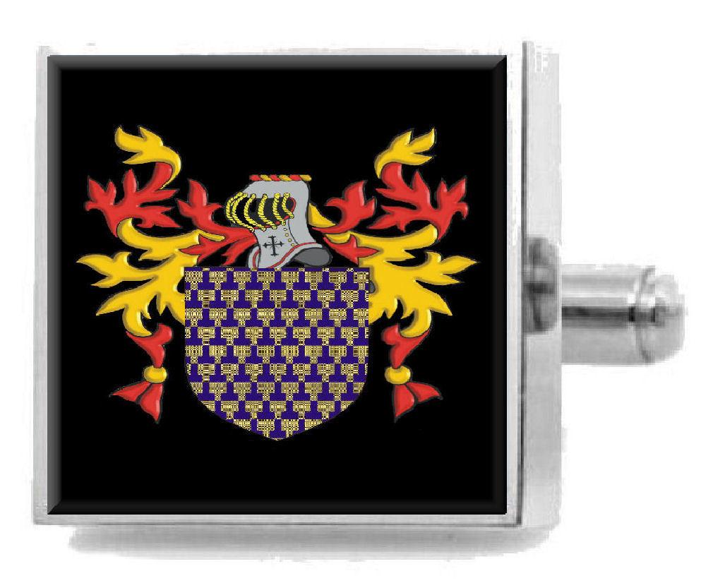 【送料無料】メンズアクセサリ― カーライルスターリングカフスリンクcarlisle england heraldry crest sterling silver cufflinks engraved box