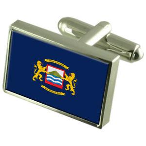 【送料無料】メンズアクセサリ― アリカチリスターリングフラグカフスリンクarica city chile sterling silver flag cufflinks engraved box