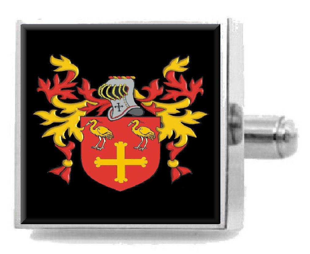 【送料無料】メンズアクセサリ― イギリスカフスボタンボックスaynscough england heraldry crest sterling silver cufflinks engraved box