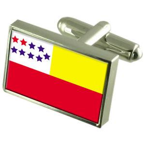 【送料無料】メンズアクセサリ― チョーネエクアドルスターリングフラグカフスリンクchone city ecuador sterling silver flag cufflinks engraved box