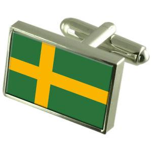 【送料無料】メンズアクセサリ― プロアチアスターリングフラグカフスリンクpula city croatia sterling silver flag cufflinks engraved box