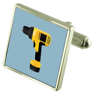 【送料無料】メンズアクセサリ― オプションドリルスターリングカフスリンクbuilder drill sterling silver cufflinks optional engraved box