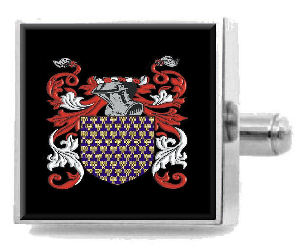 【送料無料】メンズアクセサリ― sherlandスターリングカフスリンクsherland england heraldry crest sterling silver cufflinks engraved box