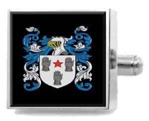 【送料無料】メンズアクセサリ― アイルランドカフスボタンメッセージボックスwhite ireland heraldry crest sterling silver cufflinks engraved message box