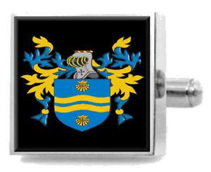 【送料無料】メンズアクセサリ― アイルランドカフスボタンボックスrolliston ireland heraldry crest sterling silver cufflinks engraved box