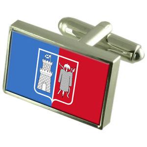 【送料無料】メンズアクセサリ― ドンロシアスターリングシルバーフラグカフスボタンボックスrostonondon city russia sterling silver flag cufflinks engraved box