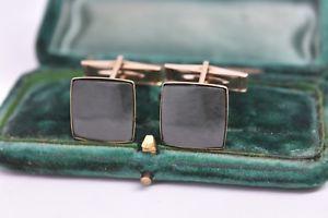 【送料無料】メンズアクセサリ― ヴィンテージゴールドストーンアールデコカフリンクスvintage 9ct gold art deco cufflinks with stunning stone insert 792g b964