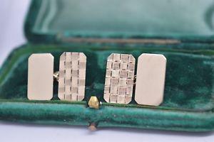 【送料無料】メンズアクセサリ― ヴィンテージゴールドアールデコデザインカフリンクスvintage 9ct gold cufflinks with stunning art deco design 607g b607
