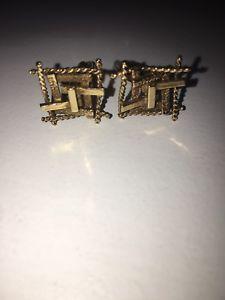 【送料無料】メンズアクセサリ― ビンテージゴールドカフスボタンスクラップスクラップvintage 1970s gorgeous 9ct gold cufflinks not scrap ship worldwide not scrap