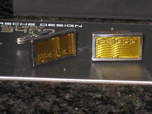 【送料無料】メンズアクセサリ― ポルシェデザインスターリングシルバーカフリンクブランドporsche design rectangular yellow 925 sterling silver cuff links brand