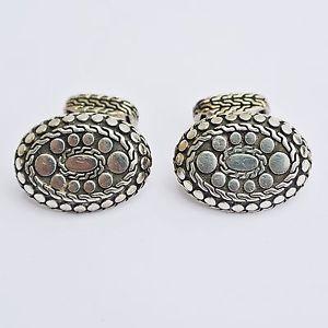 【送料無料】メンズアクセサリ― ジョンハーディジョルジュサンクパリクラシックスターリングシルバードットカフリンクスjohn hardy classic dots oval cufflinks for george v paris in sterling silver