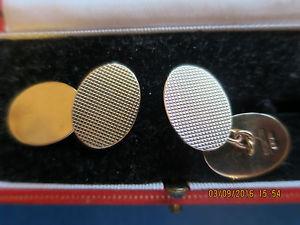 【送料無料】メンズアクセサリ― カフリンクスメーカーcropp amp; farr 9ct gold vintage hallmarked cufflinks lovely quality makers