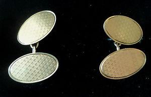 【送料無料】メンズアクセサリ― イエローゴールドボックスアールデコカフスボタンロンドンメッキattractive 9ct yellow gold art deco cufflinks 1959 london in box  not plated